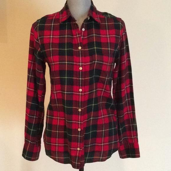 9c89d43c43 Uniqlo Tops | Womens Red Green Plaid Flannel Shirt | Poshmark